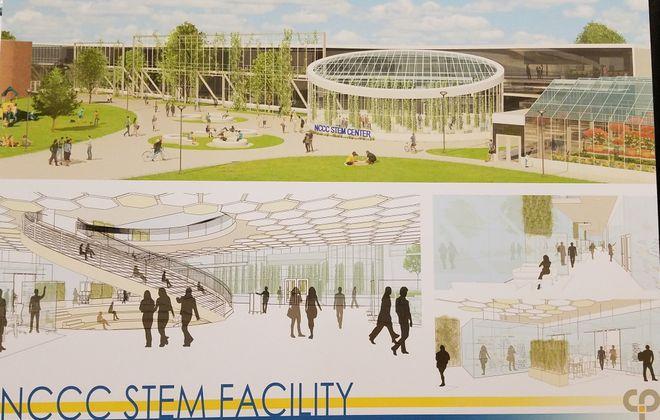 An architect's rendering shows the proposed Niagara County Community College STEM center. (Thomas J. Prohaska/Buffalo News)