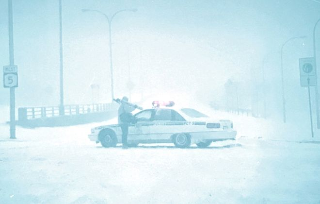 A Buffalo News file photo taken during the massive Northeast blizzard on March 13, 1993.