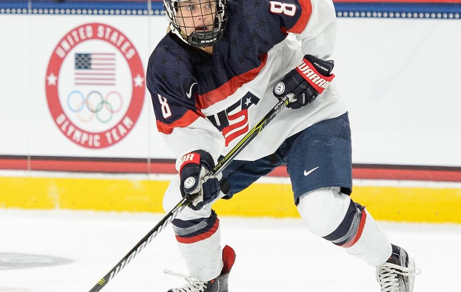 Emily Pfalzer won gold with Team USA at the 2018 Olympics. (Getty Images)