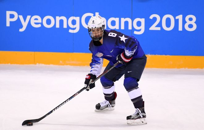 Emily Pfalzer and the United States beat Canada last week for the Olympic gold medal. (Getty Images)