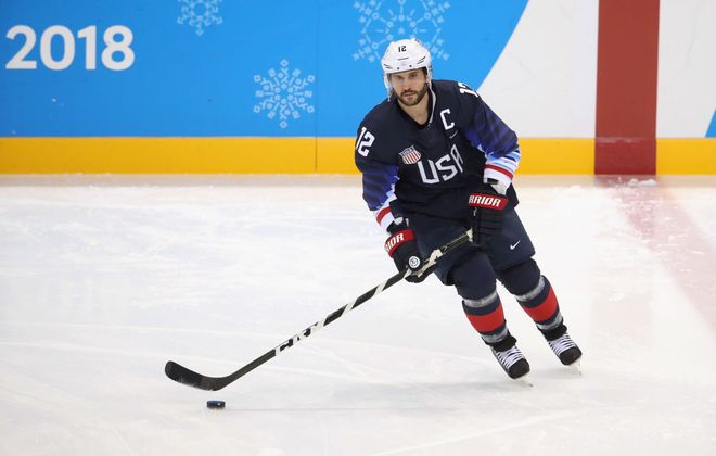 Brian Gionta joins Boston after serving as the U.S. captain at the Olympics. (Getty Images)