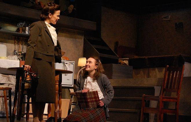 """Josie DiVincenzo, left, appears with Mira Steuer in the Lancaster Opera House's production of """"Anne Frank's Diary."""""""