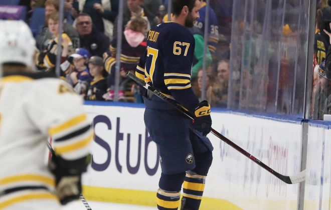 Benoit Pouliot is among the players the Sabres may move Monday. (James P. McCoy/Buffalo News)