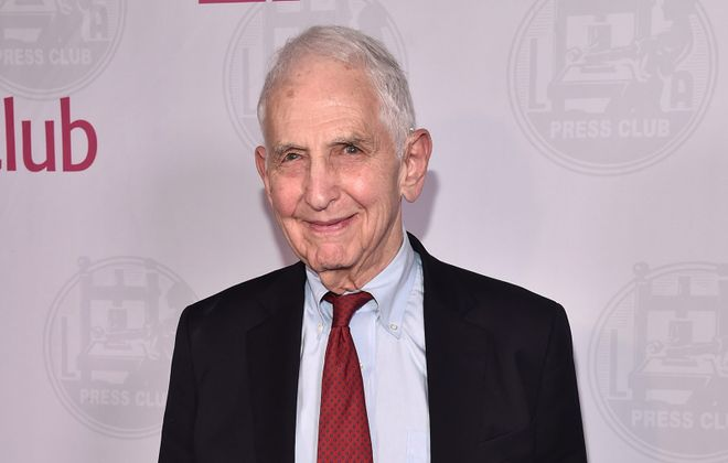 Daniel Ellsberg attends the L.A. Press Club's Veritas Awards on Feb. in Los Angeles. (Alberto E. Rodriguez/Getty Images)