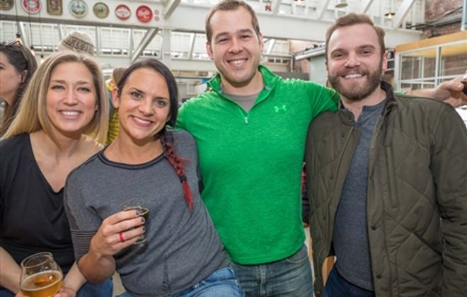 Smiles at Kegs and Eggs in Resurgence Brewing Co.