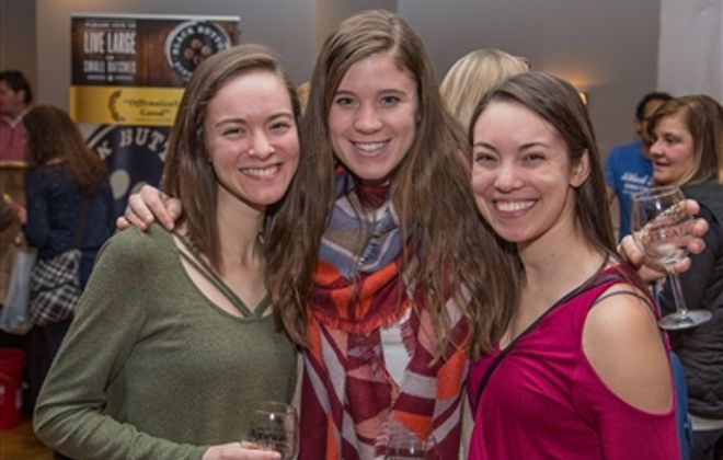 Smiles at Wine About Winter, Brewfest at Grapevine Banquets
