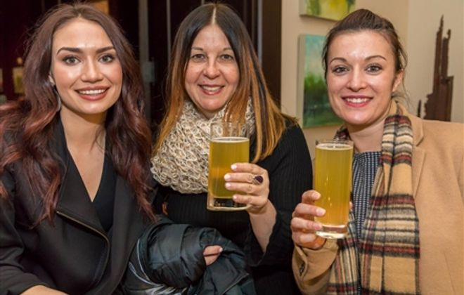 Smiles at Iroquois Beverage Co. launch