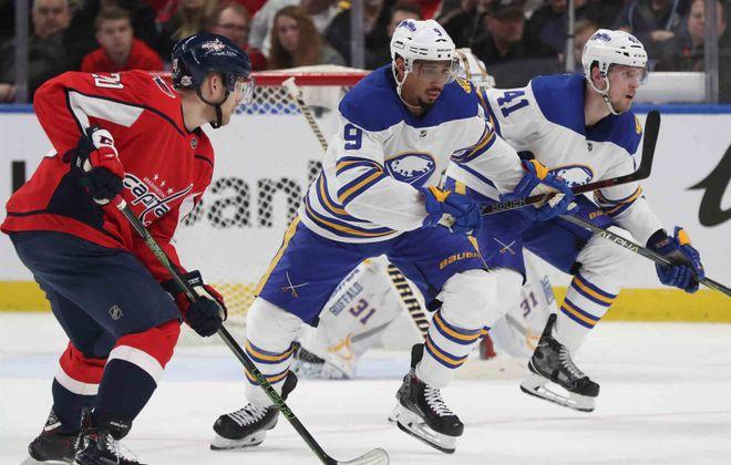 The Sharks like the edge that Evander Kane brings to his game. (James P. McCoy/Buffalo News)