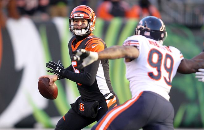 New Bills quarterback AJ McCarron appeared in 11 games over the past four seasons with the Bengals. (Getty Images)