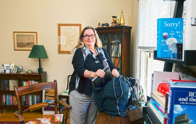 Su Hadden, whose full-time job is in Manhattan, says staying in Buffalo offers the best of both worlds. (Michael P. Majewski)