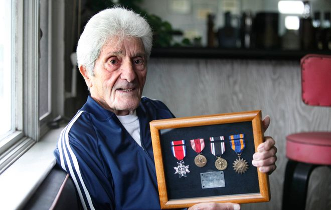 Sydney Cole, a  POW, at his home  on  October 5, 2010 . (Harry Scull Jr./Buffalo News, )