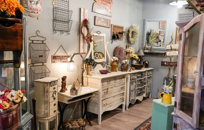 Affordable pieces, many refinished and/or repurposed by the owners, are the focus at ReFab-ulous Furniture in Elma. (Dave Jarosz)