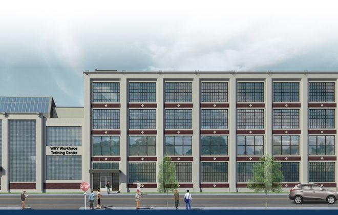 Rendering of the new Workforce Training Center at 683 Northland Ave., in the Northland Corridor.