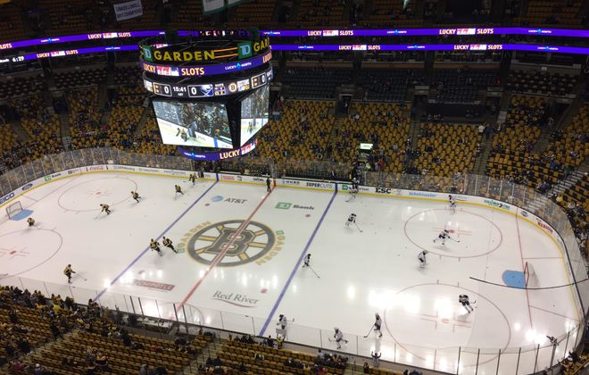 The Sabres and Bruins met in TD Garden Saturday, their third meeting of the season.