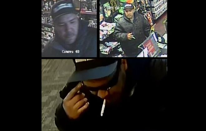 Police released photos of the suspect in two attempted robberies that happened five minutes apart. (Photos courtesy Cheektowaga Police)