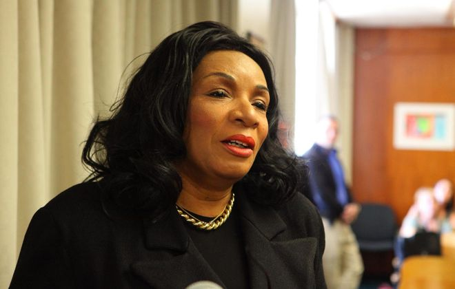 Crystal Boling-Barton, on paid leave as principal of McKinley High School, has refused to settle a discrimination lawsuit, the NYCLU says. (News file photo)