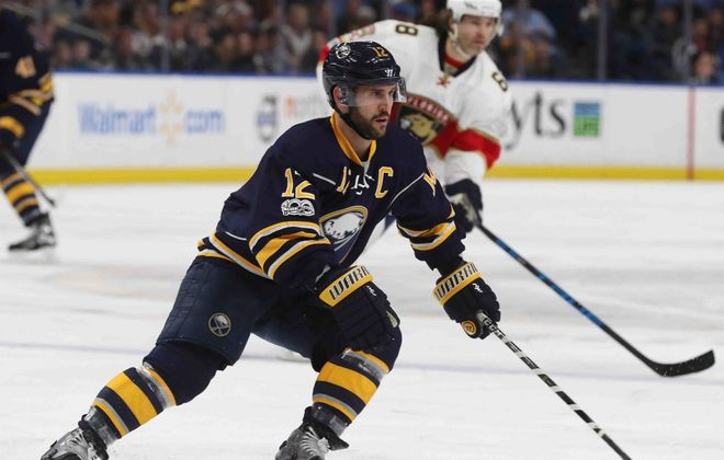 Brian Gionta captained the Sabres from 2014-2017. (James P. McCoy/News file photo)