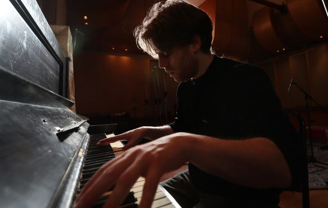 Richie English still sees himself as a missionary bound to spread the gospel of classical music, but has loved working with top-flight artists like the Goo Goo Dolls. He just loves Rachmaninoff, Brahms, Chopin, Liszt, Scriabin, Stravinsky and, most of all, Wagner, even more. (Sharon Cantillon/Buffalo News)