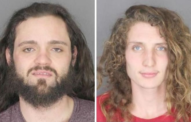Samuel R. Steger, 23, left,  and Zachery T. Salverson-Polso, 20,  both of Buffalo, were charged with assault and robbery. (Photos courtesy Erie County Sheriff's Office)