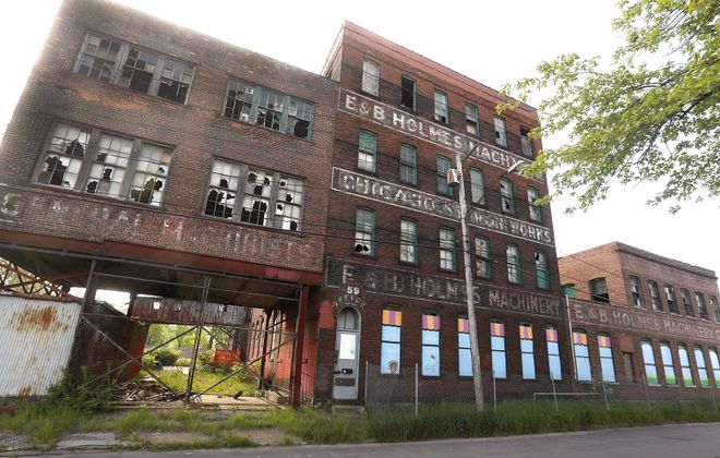 The E. & B. Holmes Machinery Co. building on Chicago Street. (John Hickey/News file photo)