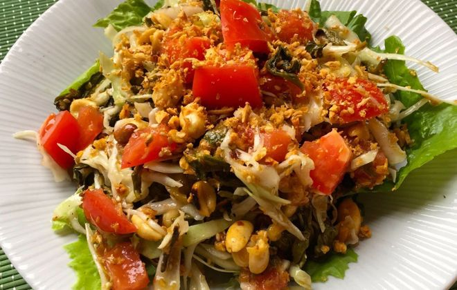 Tea leaf salad, a Burmese specialty, at Lime House in Williamsville. (Lauren Newkirk Maynard/Special to The News)