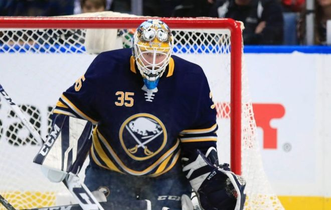 After shining for the Sabres last month, Linus Ullmark is just 1-4-5 in his last 10 games for Rochester. (Harry Scull Jr./News file photo)
