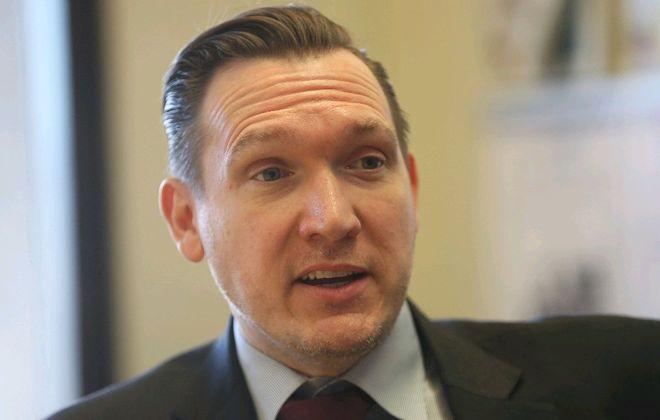Democrat Nathan D. McMurray is taking on Rep. Chris Collins. (Sharon Cantillon/Buffalo News)