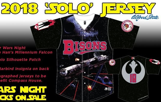 Bisons unveil 'Solo' jersey for Star Wars Night