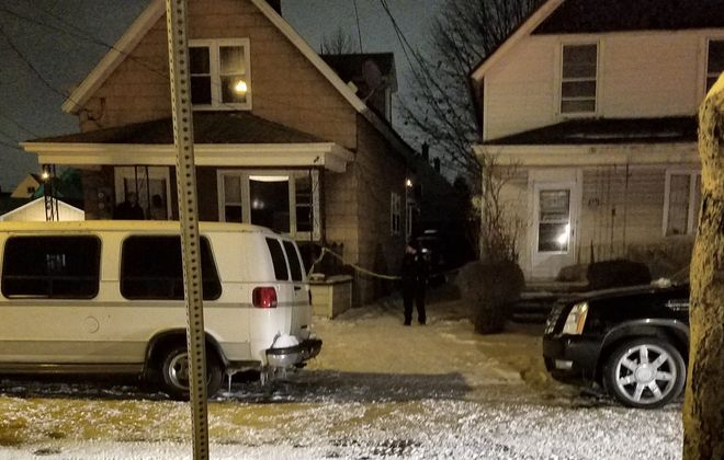 The scene of a fatal shooting earlier this month on Shepard Street in Buffalo. (Harold McNeil/Buffalo News)