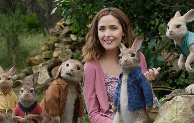 """Rose Byrne and friends star in """"Peter Rabbit."""""""