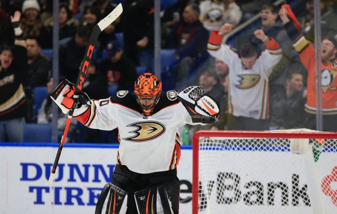 Ryan Miller is tied for second in games by a U.S.-born goaltender. (Harry Scull Jr./News file photo)
