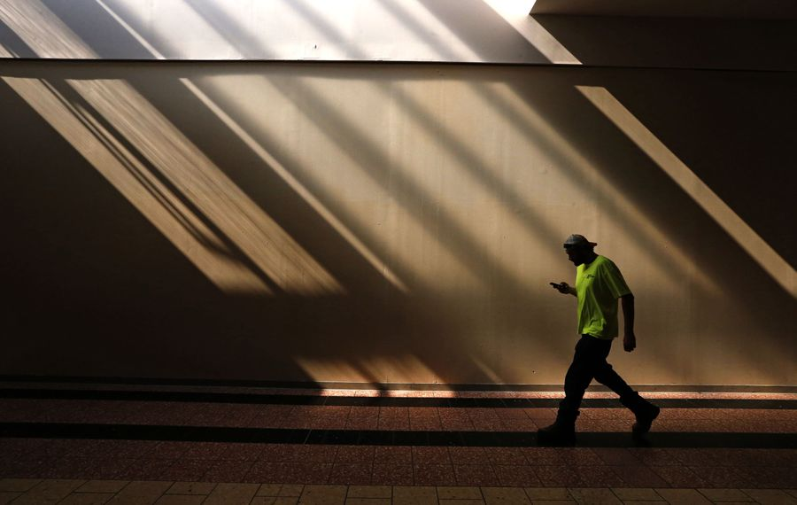 Dark days at the McKinley Mall. (Robert Kirkham/Buffalo News)