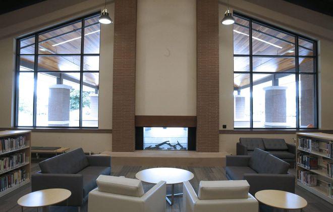 A reading room inside the West Seneca Community Center and Library. (Robert Kirkham/Buffalo News)