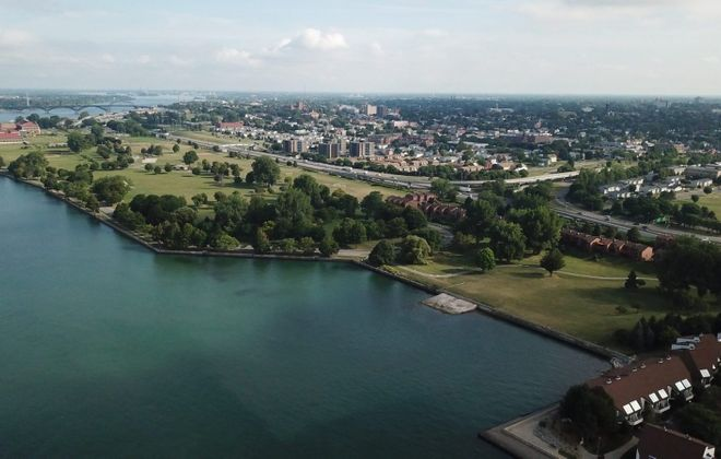 A view of LaSalle Park from above. (John Hickey/Buffalo News)