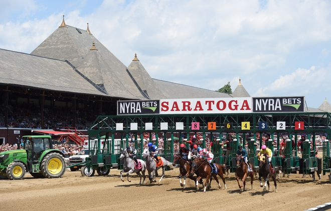 The 2-year-old fillies will kick off the Saratoga stakes schedule on Friday. Photo Credit: NYRA