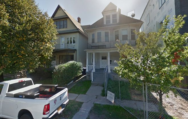 Ellicott Development wants to demolish these two deteriorating homes at 619-621 W. Delavan Ave., next to its 905 Elmwood project.
