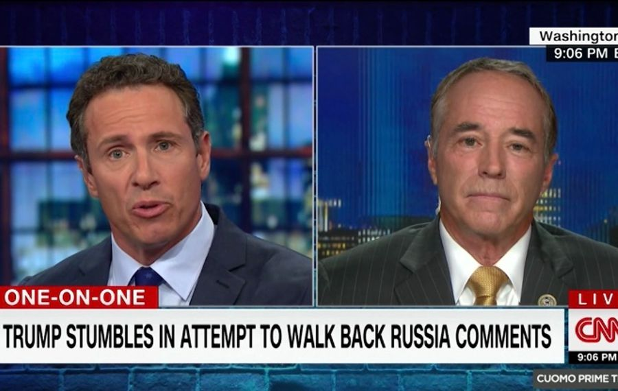 Chris Cuomo interviews Rep. Chris Collins on CNN.