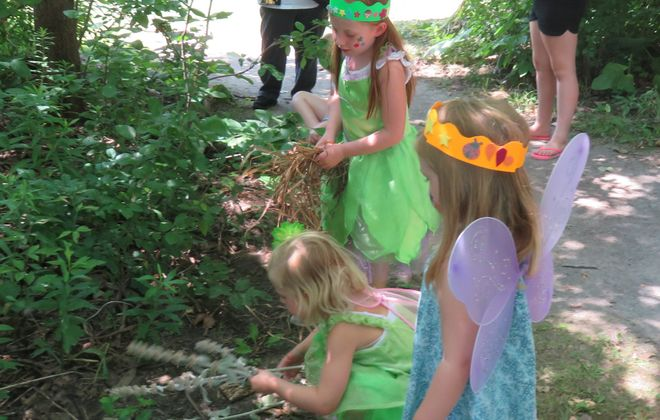 "Woodland ""fairies"" gather at the 2017 Enchanted Forest event at the Burchfield Nature and Art Center. (Courtesy Burchfield Nature and Art Center)"
