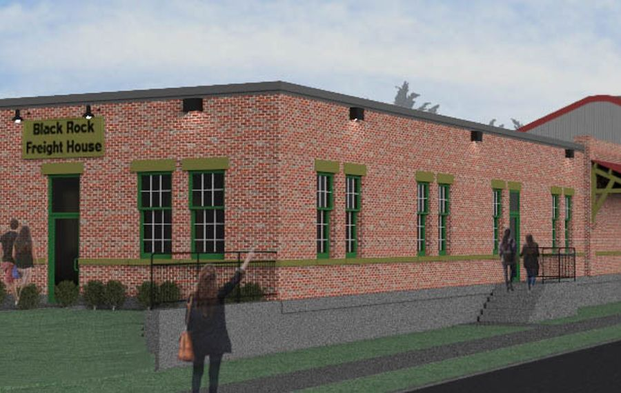 Rendering of the Black Rock Freight House project.