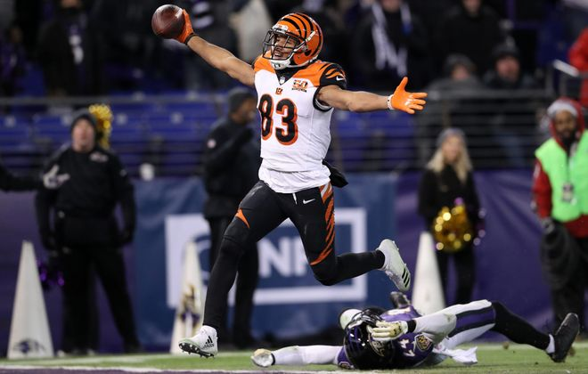Bengals wide receiver Tyler Boyd leads his team with 18 catches through the first two weeks. (Getty Images)