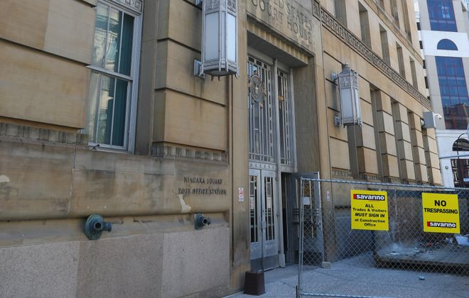 The cost to convert the former Michael J. Dillon Federal Courthouse into Buffalo's public safety campus has almost doubled from initial estimates.  (John Hickey/Buffalo News)