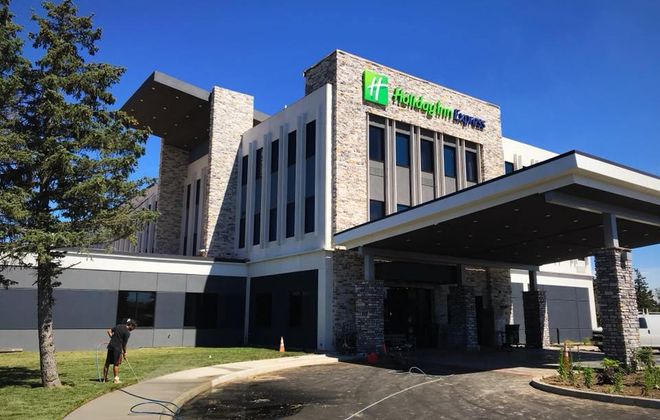 Rudra Management has completed its $8.5 million conversion of the former Dunlop Tire office building on Grand Island into a new Holiday Inn Express hotel. (Submitted photo)