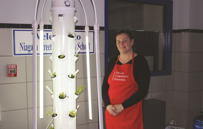 Tower gardens have raised excitement in several schools this year and soon will be in place in other community spaces in Lackawanna and Niagara Falls, said Jennifer Tynan, school grant coordinator with the Cornell Cooperative Extension of Niagara County Creating Healthy Schools and Communities program.
