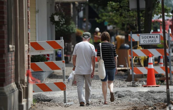 This was a common sight along Main Street in Williamsville over the summer.  (Sharon Cantillon/Buffalo News)