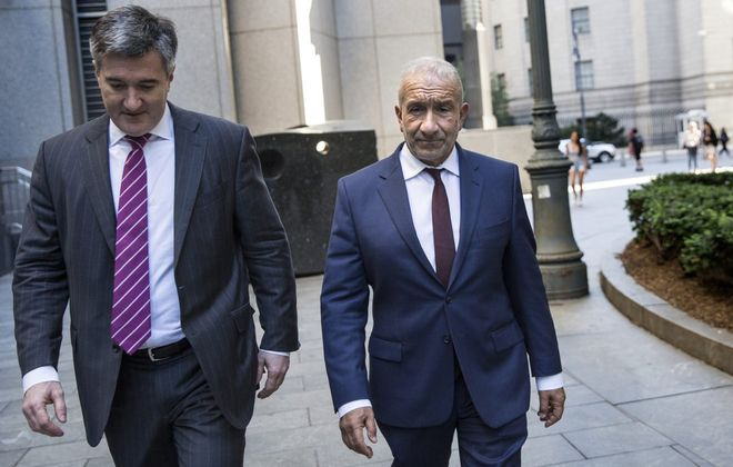 Alain Kaloyeros, right, a former president of SUNY Polytechnic Institute, was convicted of charges related to bid-rigging in the Buffalo Billion corruption case. (Holly Pickett/The New York Times)