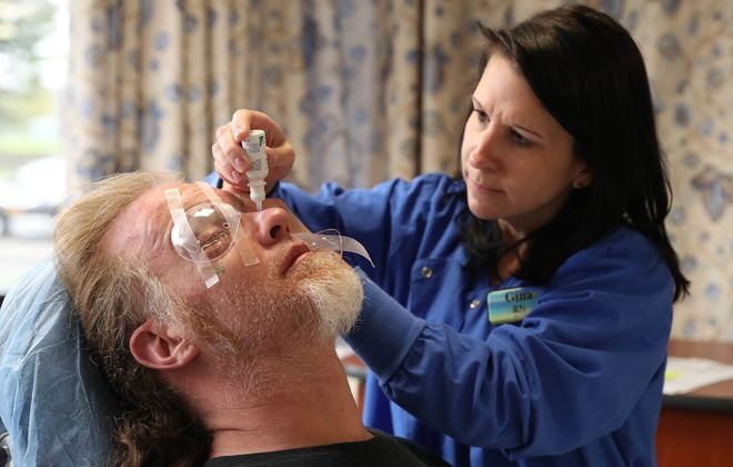 An eye professional should diagnose dry eye, a condition which, when left untreated, can damage the cornea.  (Sharon Cantillon/News file photo)