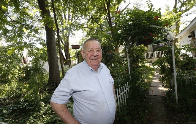 Former Amherst Town Board member William Kindel at his home.  (Robert Kirkham/Buffalo News)