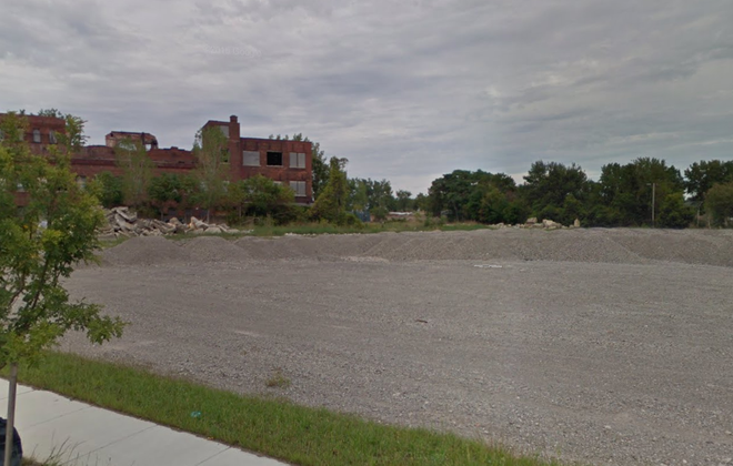 This is the area along Ohio Street where Ellicott Development is planning its Cooperage development, and now the new Downtown Sports Complex. (Google Maps)