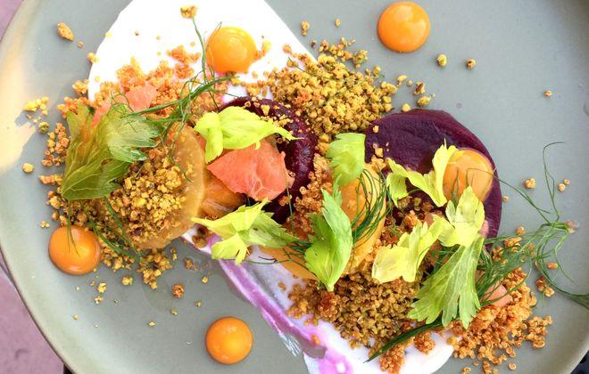 Beet salad at Prescott's Provisions. (Andrew Galarneau/Buffalo News)