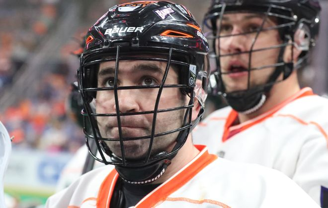 Bandits Shawn Evans on the bench in the first quarter at Key Bank Center in Buffalo N.Y. on Saturday, March 31, 2018.  (James P. McCoy/Buffalo News)